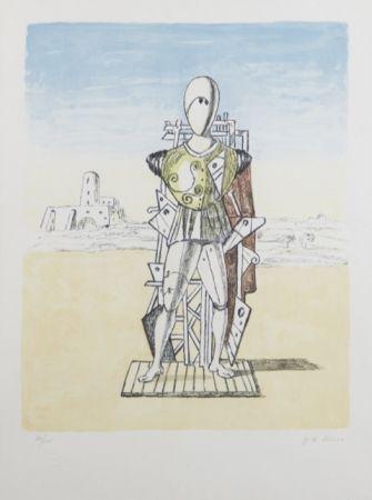 Lithograph De Chirico - Trovatore