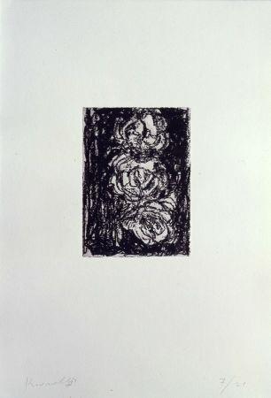 Lithograph Kounellis - Trpois roses