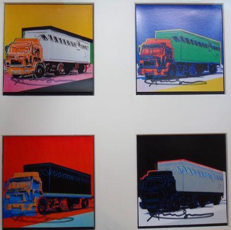 Lithograph Warhol - Trucks Announcement
