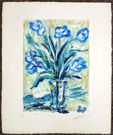 Etching Guiny - Tulipe Bleu
