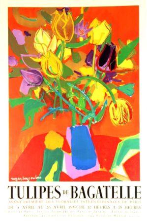 Lithograph Bezombes - Tulipes de Bagatelle