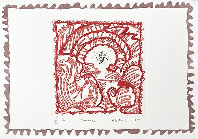 Etching Alechinsky - Tunnel