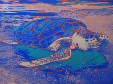 Screenprint Warhol - Turtle