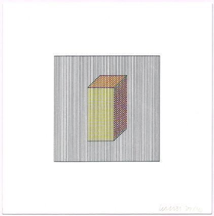 Screenprint Lewitt - Twelve Forms Derived from a Cube (Set of 48) (2)