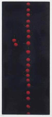 Mezzotint Hamaguchi - Twenty-Two Cherries (Red)