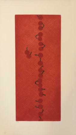 Mezzotint Hamaguchi - Twenty-two Cherries (Set of 7)