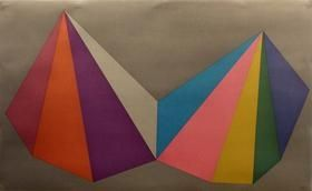 Screenprint Lewitt - Two Asymmetrical Pyramids