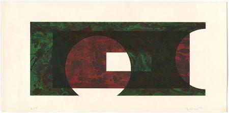 Lithograph Davis - Two Circle