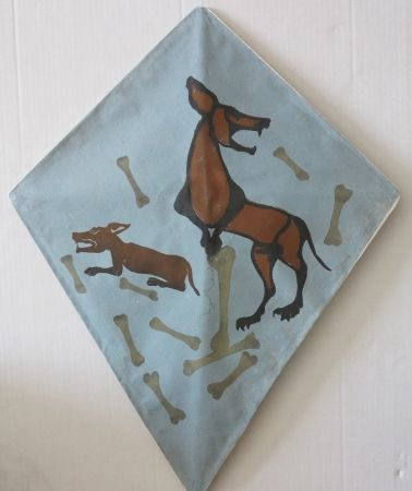 Screenprint Toledo - Two dog kite I