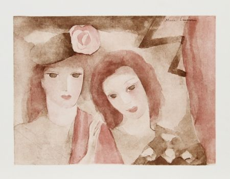 Etching And Aquatint Laurencin - Two Girls