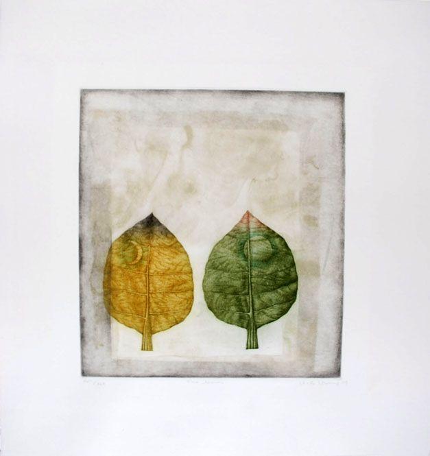 Mezzotint Hwang - Two leaves
