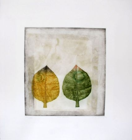 Mezzotint Hwang - Two leaves
