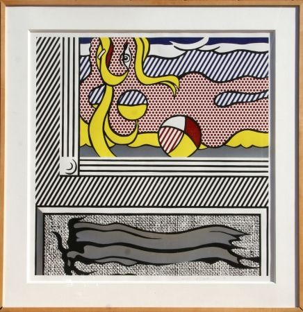 Woodcut Lichtenstein - Two Paintings: Beach Ball
