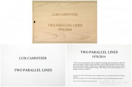 Multiple Camnitzer - Two Parallel lines