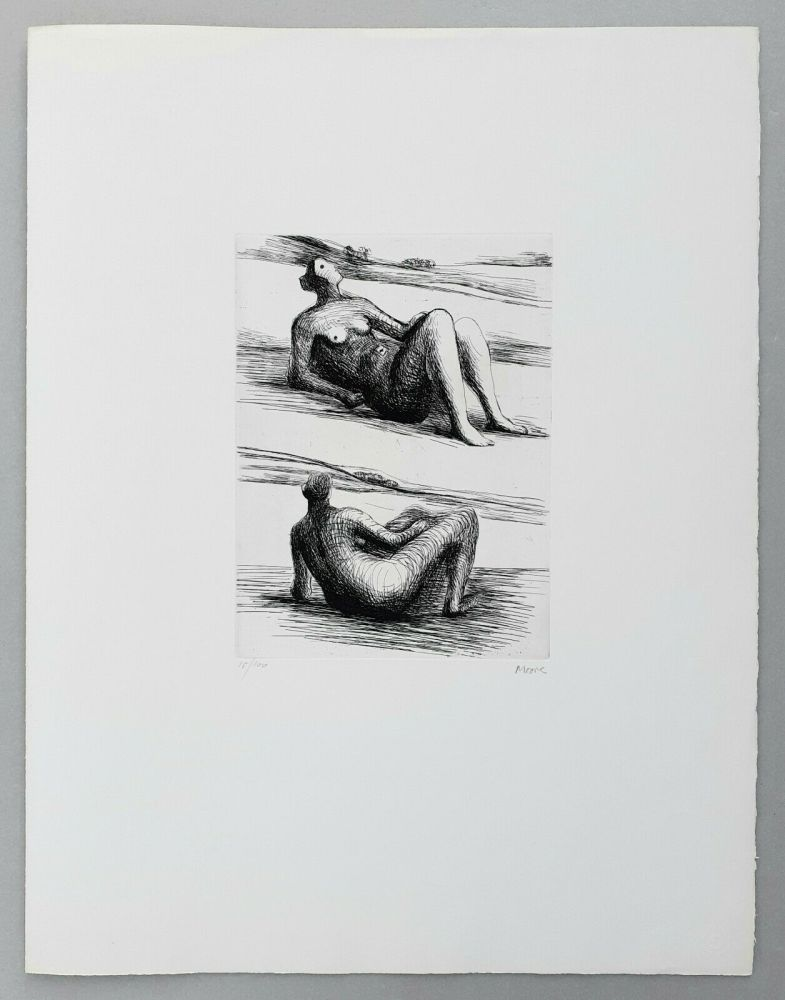 Etching Moore - Two reclining figures