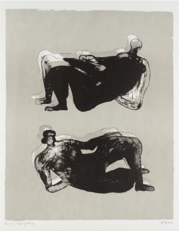 Lithograph Moore - Two Reclining Figures & Lithograph de Henry Moore Multicoloured Reclining Figure on Amorosart islam-shia.org