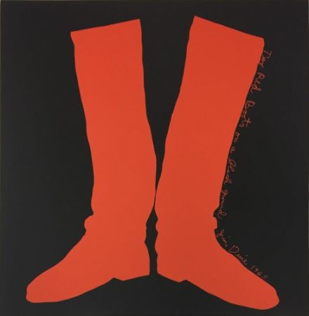 Multiple Dine - Two Red Boots on a Black Ground,