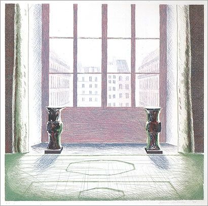 Etching And Aquatint Hockney - Two Vases in the Louvre