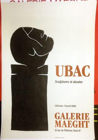 Poster Ubac - UBAC 82. Sculptures et dessins.