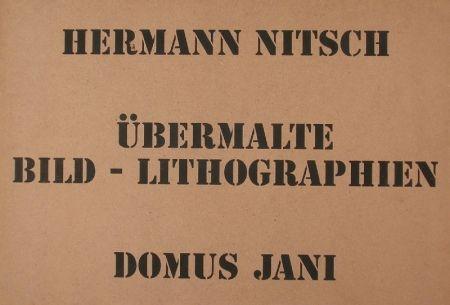 Lithograph Nitsch - UBERMALTE  BILD
