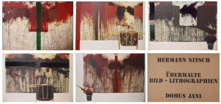 Lithograph Nitsch - Ubermalte Bild - Lithographien, Domus Jani