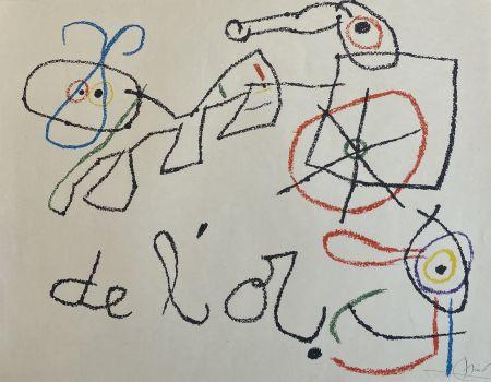 Lithograph Miró - Ubu aux Baleares I
