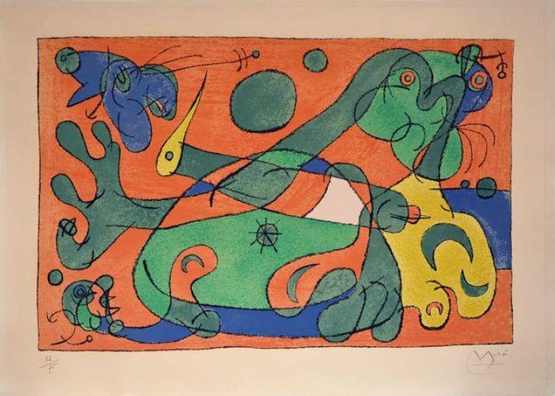 Lithograph Miró - Ubu roi