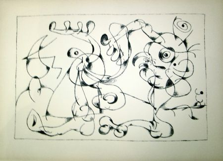Lithograph Miró - Ubu Roi (1st state in Black and White)