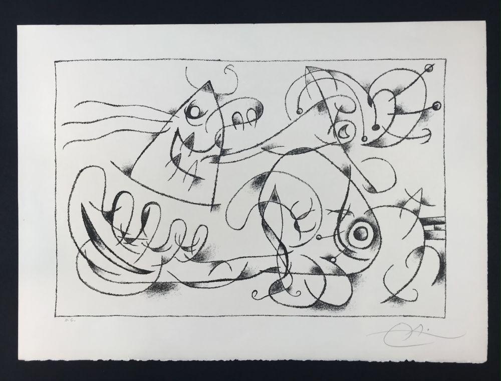 Lithograph Miró - Ubu Roi (King Ubu ) from 'Suites por Ubu Roi'