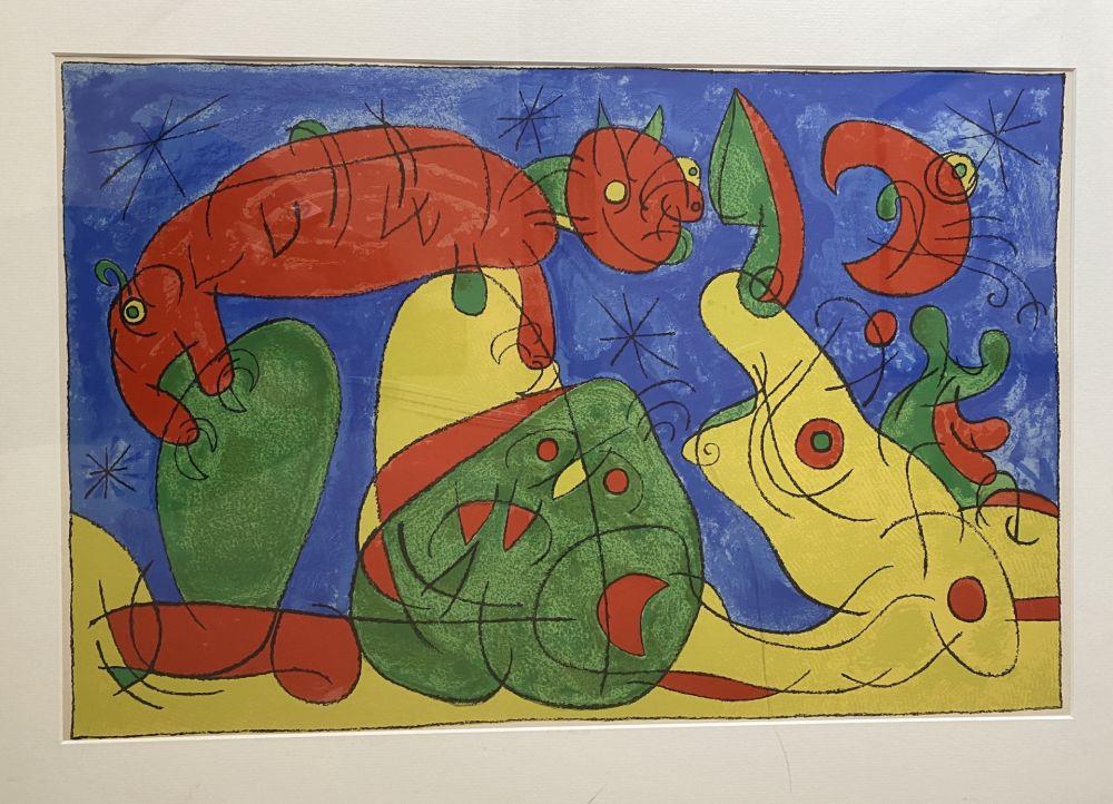 Lithograph Miró - UBU Roi (plate 11)
