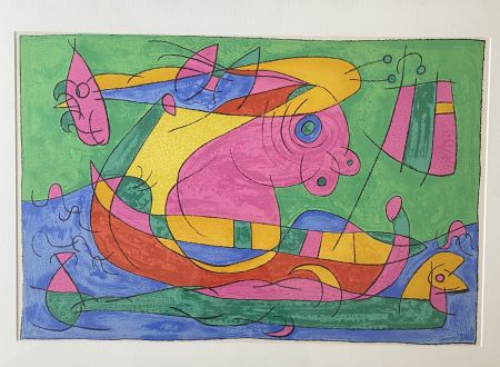 Lithograph Miró - UBU Roi (plate 13)