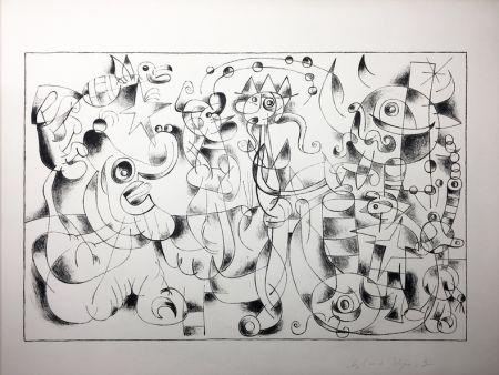 Lithograph Miró - Ubu Roi. Suite En Noir À Grandes Marges Des Treize Lithographies Pour Ubu Roi (1966).