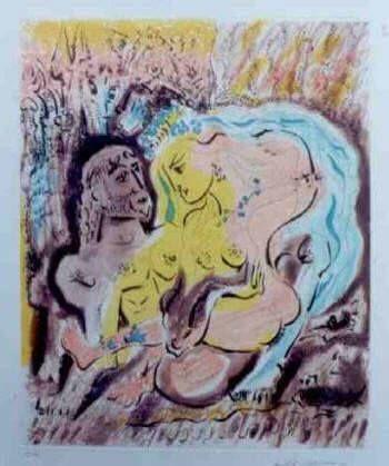 Etching And Aquatint Masson - Ulysses et Circe's