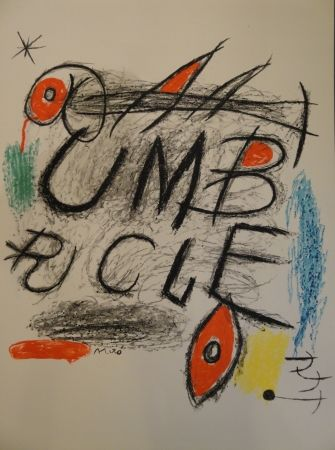 Lithograph Miró - Umbracle