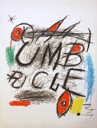 Lithograph Miró - Umbracle