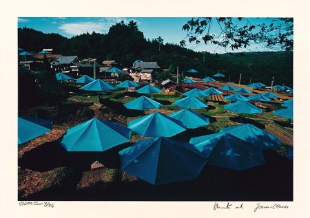 Photography Christo - Umbrellas Jinba Blue