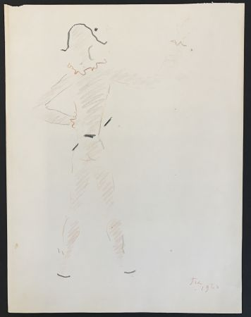 No Technical Cocteau - Un arlequin vu de dos (A harlequin seen from the back)