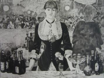 Etching Manet - Un bar aux Folies-Bergère