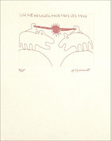 Engraving Parant - UN MEME SOLEIL POUR TOUS LES YEUX