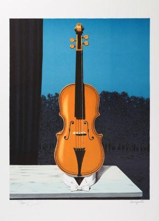 Lithograph Magritte - Un peu de l'âme des bandits