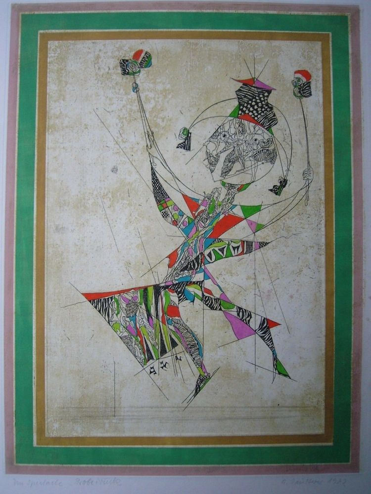Etching And Aquatint Finsterer - Un Spectacle