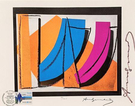 Lithograph Warhol - UN Stamp