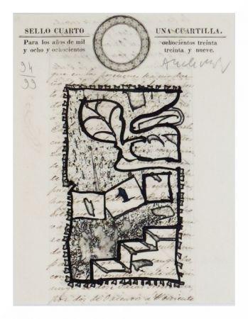 Engraving Alechinsky - Una Cuartilla