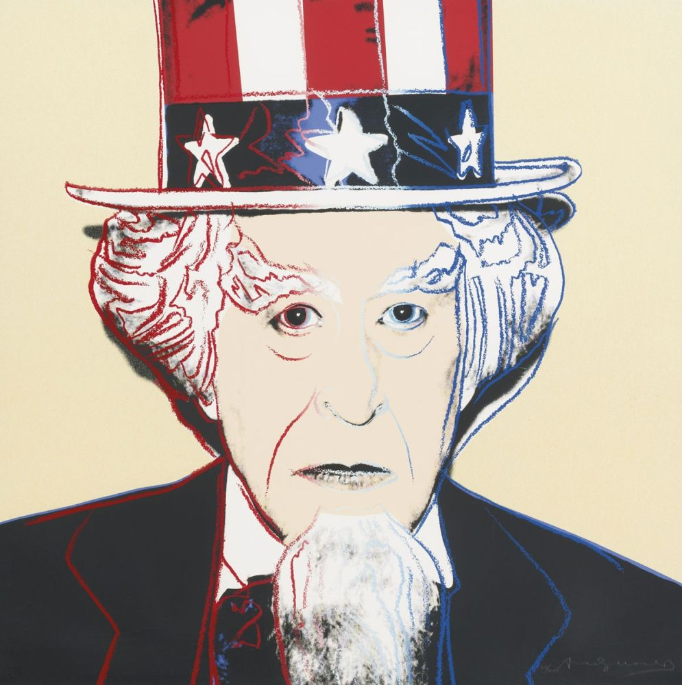 Screenprint Warhol - Uncle Sam (FS II.259)