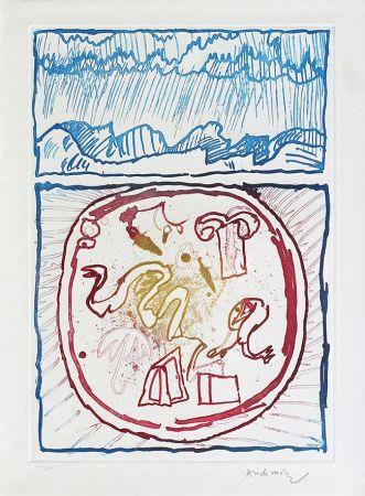 Engraving Alechinsky - Underground