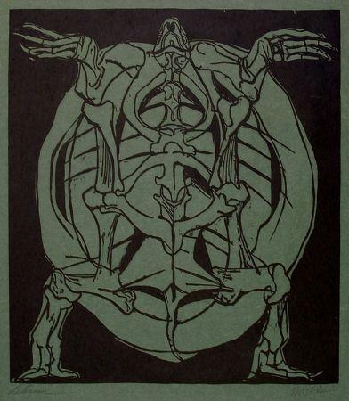 Woodcut Baskin - Underside of Tortoise (in collaboration with Rico Lebrun)