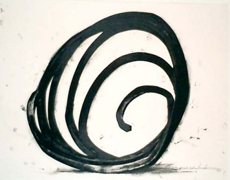 Lithograph Venet - Undetermined Line 1