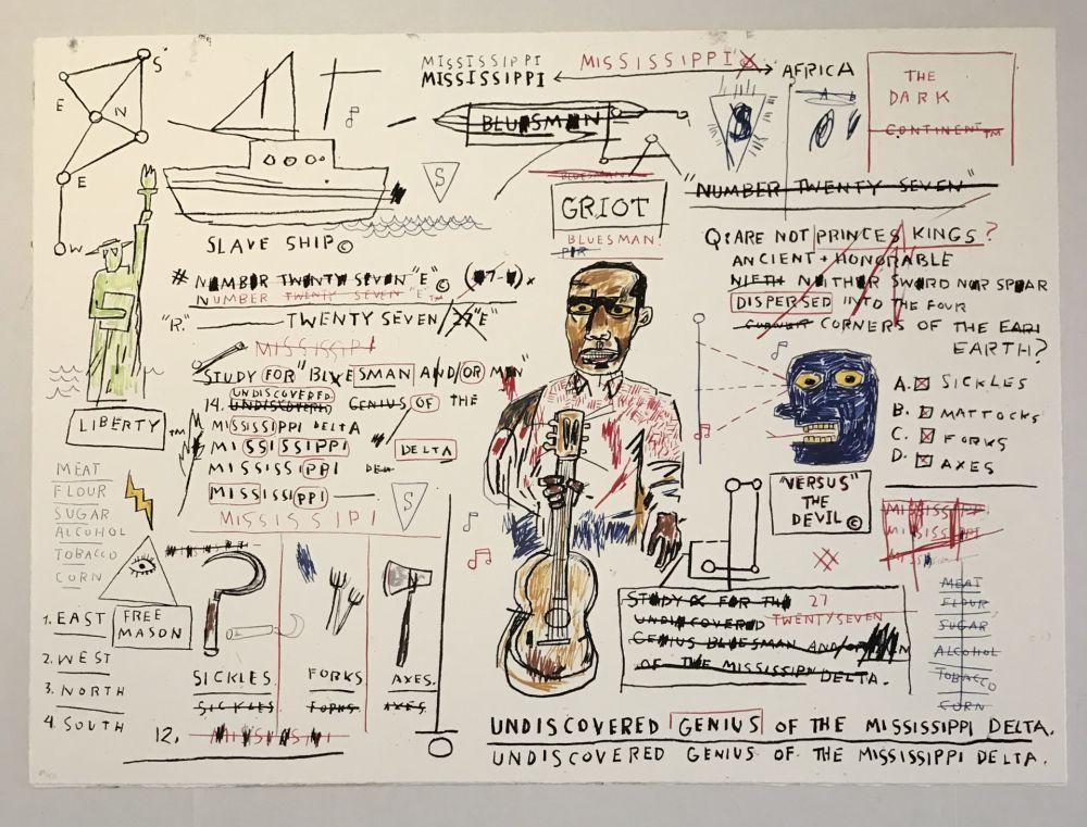Screenprint Basquiat - Undiscovered Genius