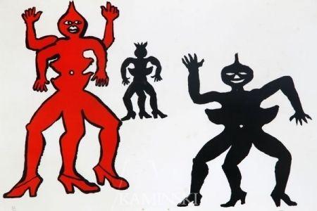 Lithograph Calder - Une famille de là bas