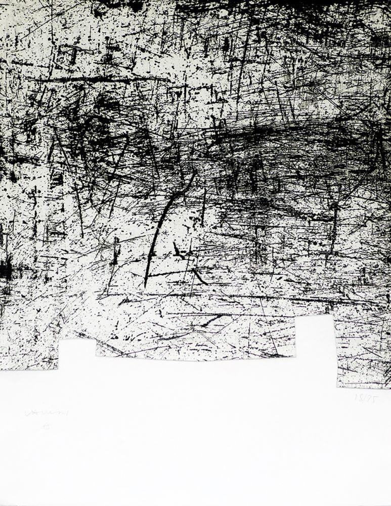 Etching And Aquatint Chillida - Une helene de vent ou fumee II